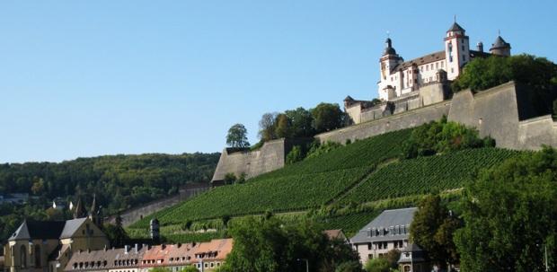 Festung Marienberg in Würzburg - Simone's home town.